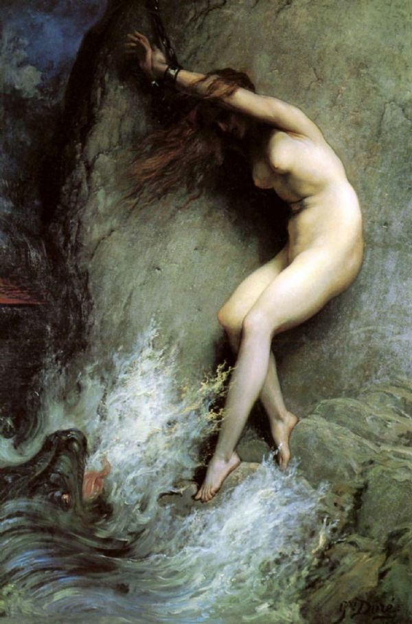 Dore, Gustave: Andromeda. Fine Art Print/Poster. Sizes: A4/A3/A2/A1 (002632)